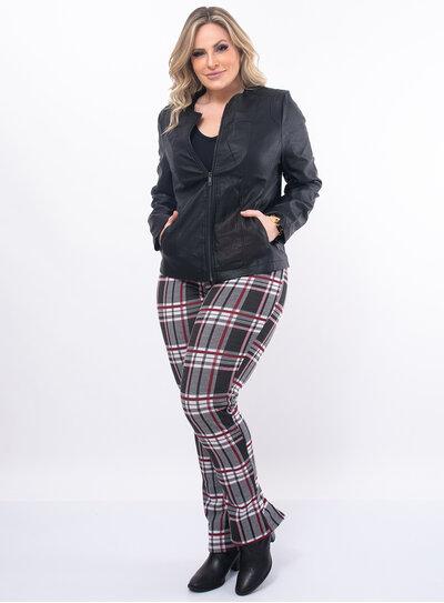 Jaqueta Plus Size PU Preta