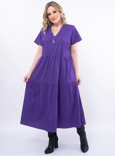 Vestido Plus Size Recortes