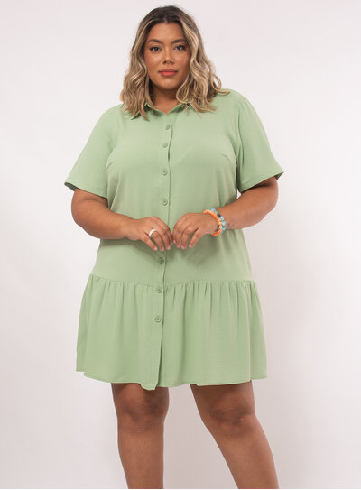Vestido Plus Size Modelo Chemise