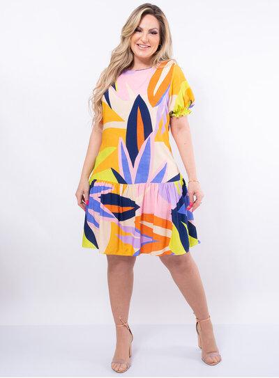 Vestido Plus Size Viscose Amplo