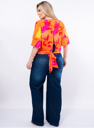 Blusa Plus Size Nozinho nas Costas