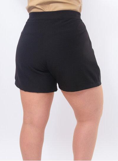 Short Plus Size Alfaiataria Cintura Alta