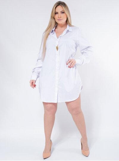 Vestido Chemise Plus Size Clássico