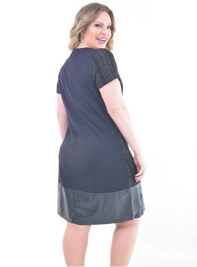 Vestido Plus Size Barra em PU