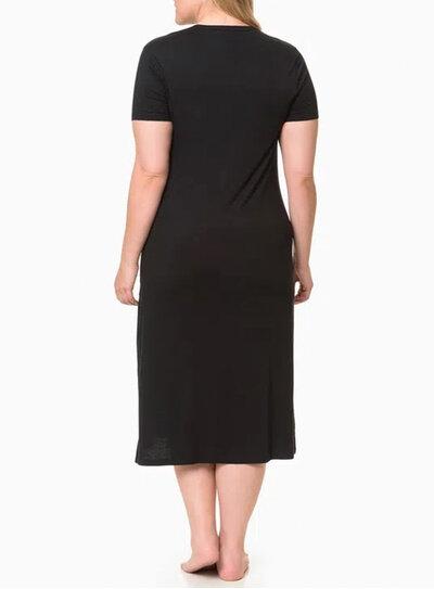 Camisola Longa Plus Size Calvin Klein Preta