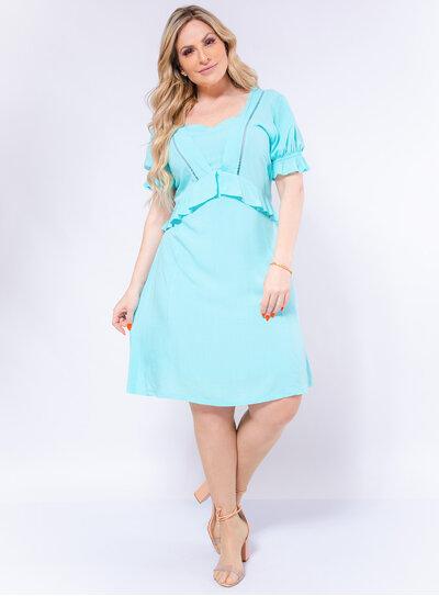 Vestido Plus Size Viscose Candy Color