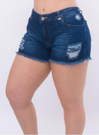 Short Jeans Plus Size Boyfriend Destroyed