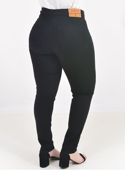 Calça Jeans Skinny Plus Size Preta