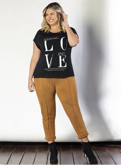 Blusa Plus Size Love