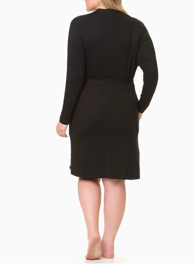 Robe Plus Size Calvin Klein Preto