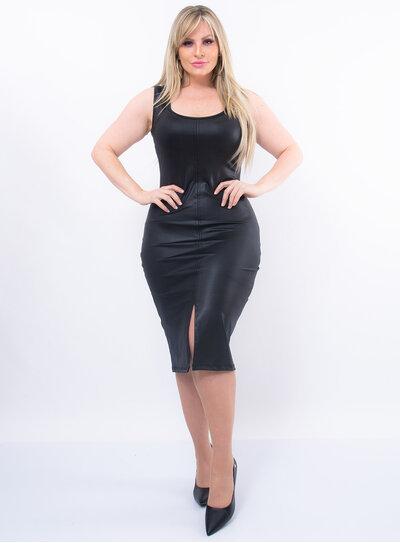 Vestido Plus Size Modelo Tubinho