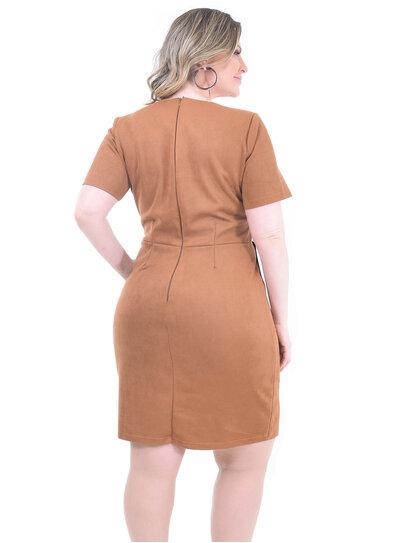 Vestido Plus Size Suede