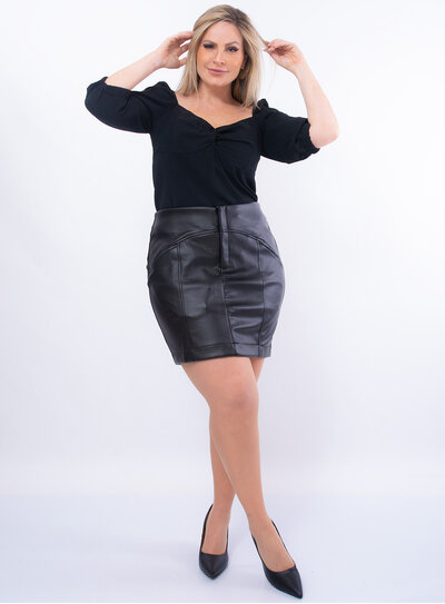 Blusa Plus Size Princesa com Elástico