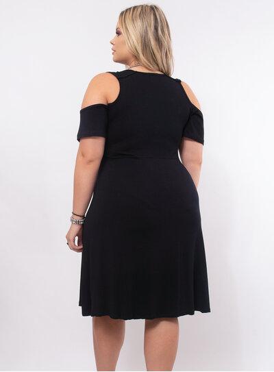 Vestido Plus Size Decote Transpassado