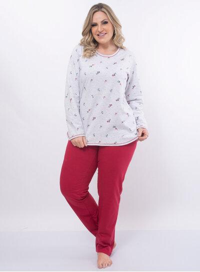 Pijama Plus Size Floral
