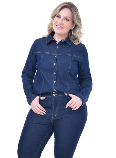 Camisa Plus Size Jeans