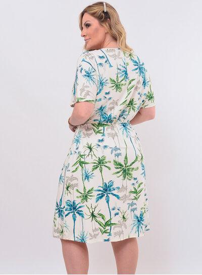 Vestido Plus Size Curto Tropical