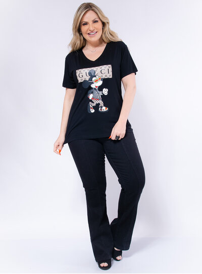 T-shirt Plus Size Mickey Gucci
