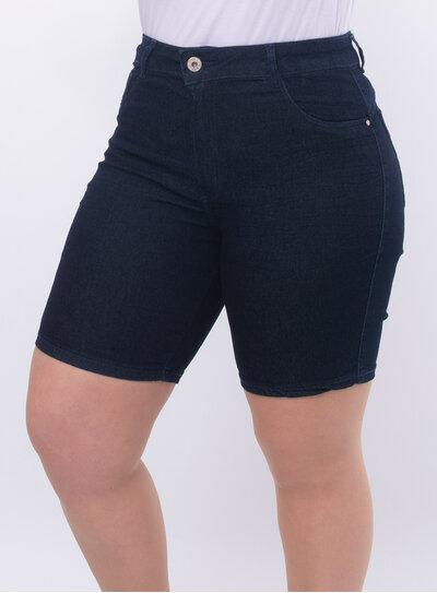 Bermuda Plus Size Jeans com Elastano