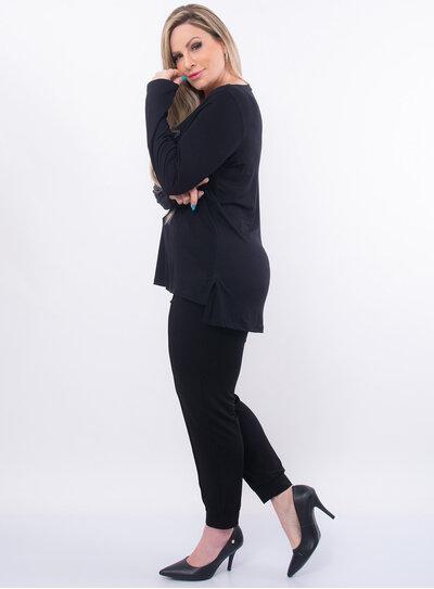Blusa Plus Size Mullet Estampa Frontal