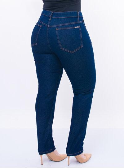 Calça Jeans Plus Size Lavagem Escura