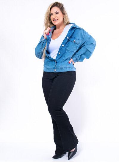 Jaqueta Jeans Ampla Delavê
