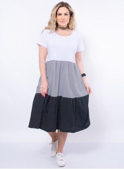 Vestido Camisetão Plus Size Mix de Estampas