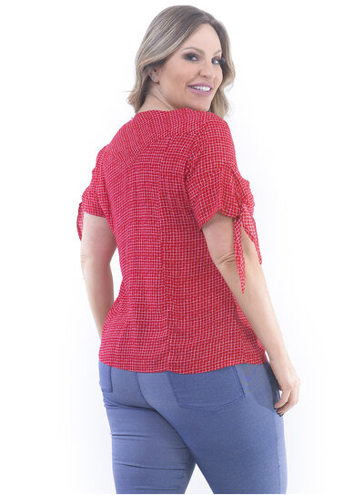Blusa Plus Size Xadrez