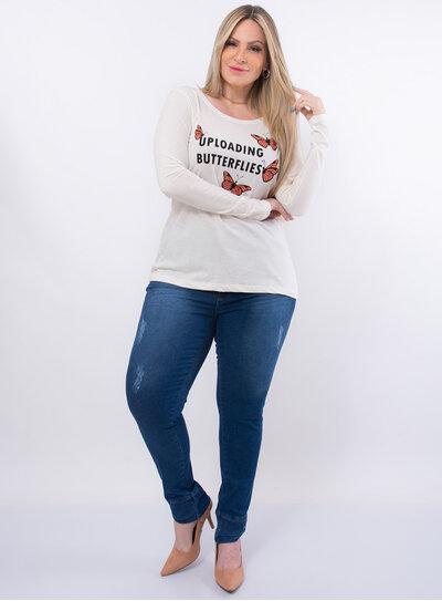 Blusa Plus Size Borboletas