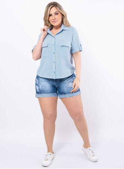 Camisa Plus Size Xadrez