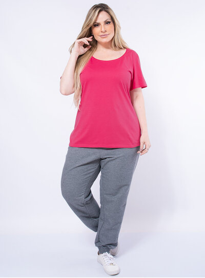 Blusa Plus Size Básica