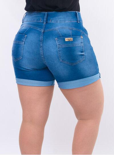 Short Jeans Plus Size Recortes