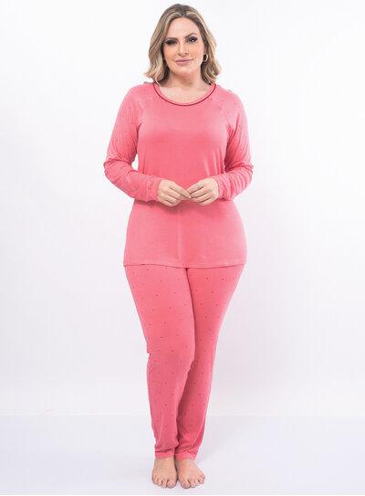 Pijama Plus Size Coração