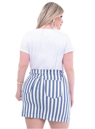 Blusa Wee Bordada Branca Plus Size