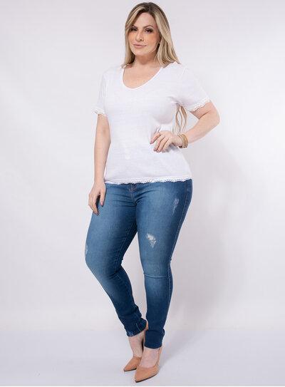 Blusa Plus Size Ribana