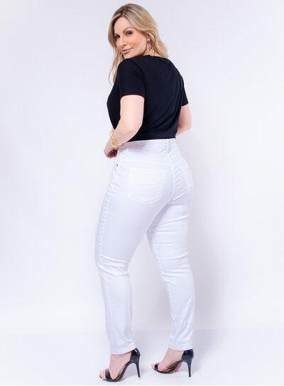 Calça Jeans Plus Size Skinny Colorida