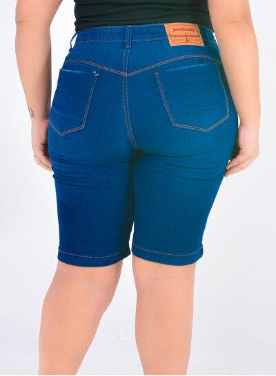 Bermuda Jeans Plus Size Ciclista