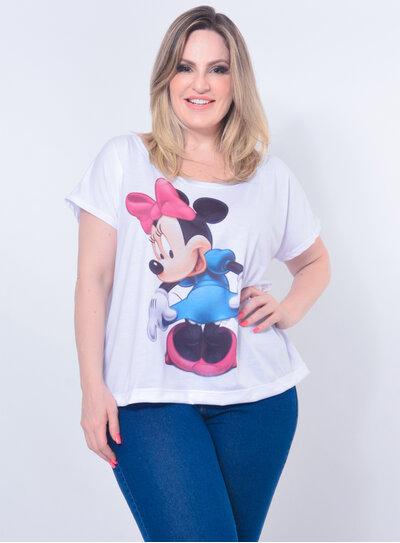 T-Shirt Plus Size Minnie Rosa