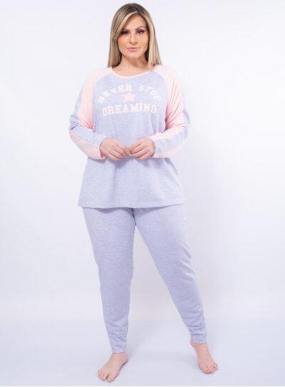 Pijama Plus Size Moletinho Estrela