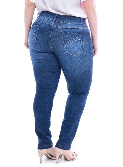 Calça Jeans True E- Motion Stone Plus Size