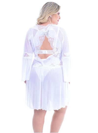 Robe Plus Size Branco