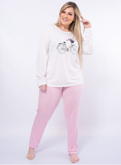 Pijama Plus Size Bicicleta