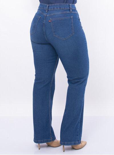 Calça Plus Size Jeans Reta
