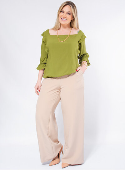 Blusa Ciganinha Plus Size