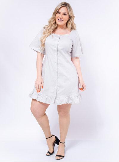 Vestido Plus Size Tricoline