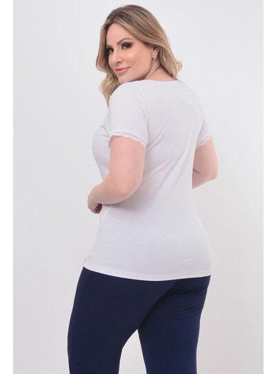Blusa Plus Size Renda