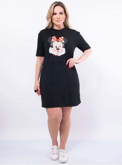 Vestido Plus Size Camisetão Minnie