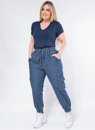 Calça Jogger Plus Size Jeans