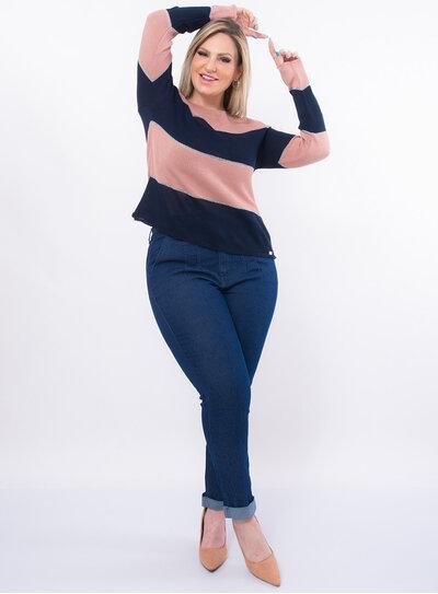 Blusa Plus Size Tricô Lurex