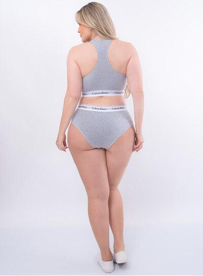 Top Nadador Modern Cotton Plus Size Cinza Calvin Klein